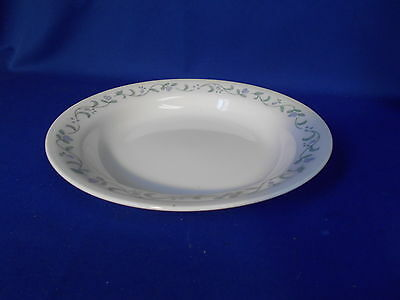 "Corning Corelle COUNTRY COTTAGE Rimmed Soup Bowl 8 1/2"" White Lavender flowers"