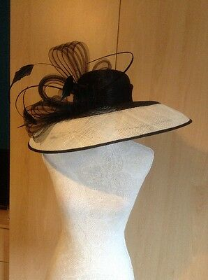 Jacques Vert Black And Ivory Hat