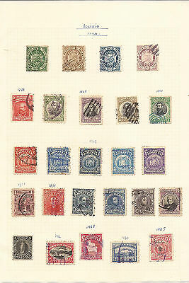 Bolivia. Six Pages Of Mint & Used Stamps.