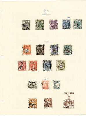 Peru. Eleven Sheets Mint & Used