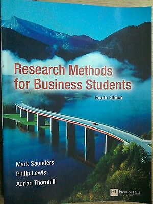 Research methods for business students 4th Edition