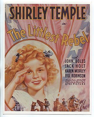 """The Littlest Rebel 8""""x10"""" Color Promotional Still Shirley Temple FN"""