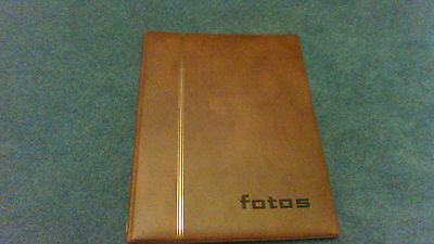 Photograph Album -10 page ringbinder type - Brown leather effect