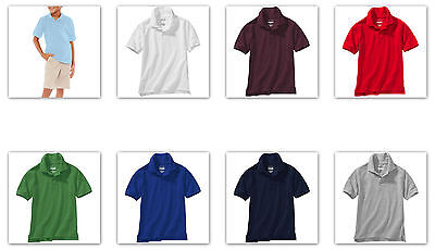 -George School Uniform Boy's SHORT Sleeve Polo Shirts many colors / sizes