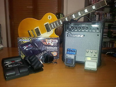 epiphone les paul Trans amber plus II e accessori