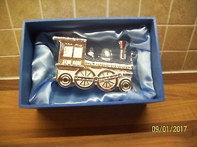 NEW Silver Plated Train Money Box - Christening/New Baby Gift