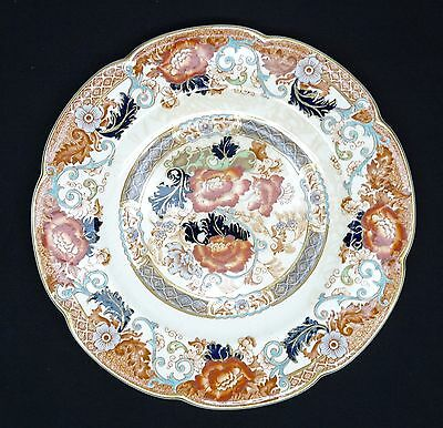 "Wood & Son VERONA ROYAL Semi Porcelain 10 3/4"" Plate Handpainted Transferware"