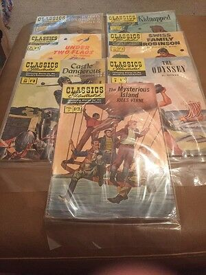 classics illustrated comics Collection Of 7