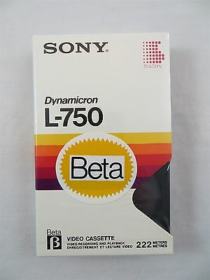 Sony Dynamicron L-750 Beta Videocassette Betamax Tape New Sealed