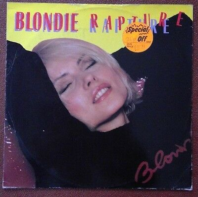 Blondie - Rapture 12-inch single