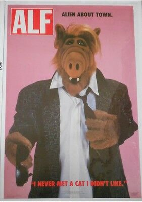 ALF TV Series Alien About Town Poster Jerry Stahl Vintage New