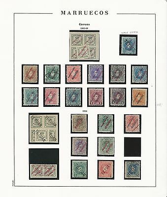 Spanish Morocco: first stamp year 1903 to 1908 Mint and used very good,...SR17+