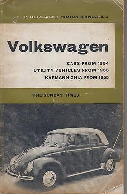 Vw Beetle Inc Oval & Cabrio , Transporter Karmann Ghia 1954 - 1961 Repair Manual