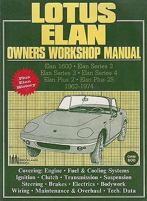 Lotus Elan S1 S2 S3 S4 & Elan +2 Coupe Convertible 1962 - 1974 Workshop Manual