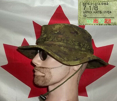 Canadian Forces Cadpat Boonie Digital Woodland Military Issue 7 1/8 Neat Clean