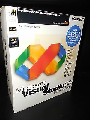 NEW Sealed Microsoft Visual Studio 6.0 6 Enterprise BASIC FOXPRO C++ 628-00140