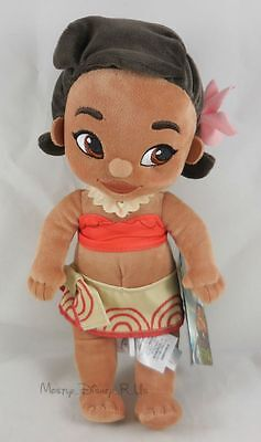 """Disney Store Exclusive Animators Young Todder Moana Princess 12"""" Plush Toy Doll"""