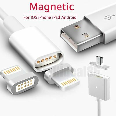 Magnetic Lightning Micro USB Data Charger Cable For iPhone 7 6s Android Samsung