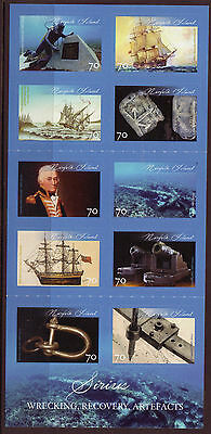 Norfolk Island Wreck Of Hms Sirius Booklet (10 Stamps) Mnh 2015