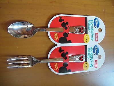 Disney  Mickey Mouse Stainless Steel Spoon & Fork   Made in Japan