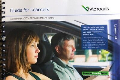 Vic Roads Guide For Learners + Learner Log Book Replacement Copy- Latest Edition