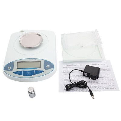 300g / 0.001g Accurate Digital Balance Laboratory Counting Weight Scale White