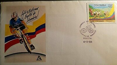Colombia 1986 Coffee Beans And Natl. Cycling Team Fdc