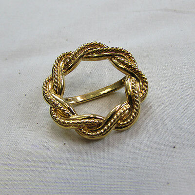 Goldtone Twisted Rope Scarf Slide (15066758p)