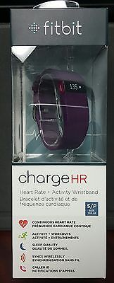 Brand New Sealed Fitbit Charge HR Activity Tracker with Heart Rate Plum Small