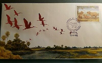 Colomb 1985 Fauna Fdc. As Is