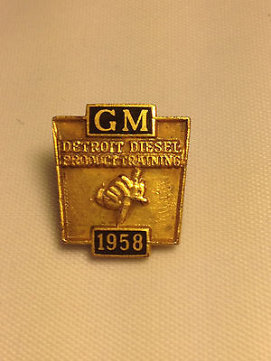 1958 General Motors Detroit Diesel Product Training Recognition Thread-Back Pin