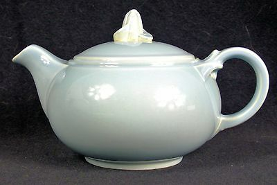 LuRay Pastels Windsor Blue Teapot - Vintage 1940's Taylor Smith & Taylor Ceramic