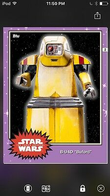 Topps Star Wars Digital Card Trader Preview Buford Base 4 Variant