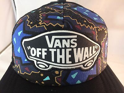 Women's trucker style hat by Vans Blue black adjustable size New with tags