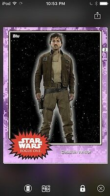 Topps Star Wars Digital Card Trader Preview Cassian Andor Base 4 Variant
