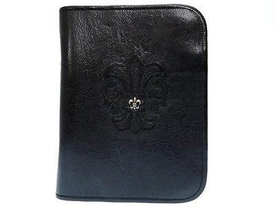 Authentic Chrome Hearts Leather Ajenda Black  0261