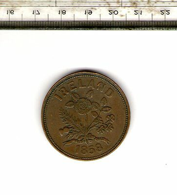 Rare 1858 Penny Bank Token Of William Hodgins