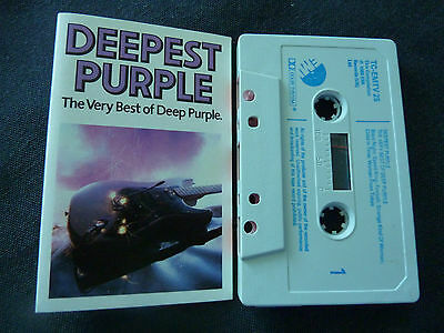 Deep Purple The Very Best Of Ultra Rare Cassette Tape!