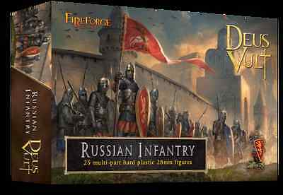 Fireforge Games - Medieval Russian Infantry (25) 28mm Scale Miniatures