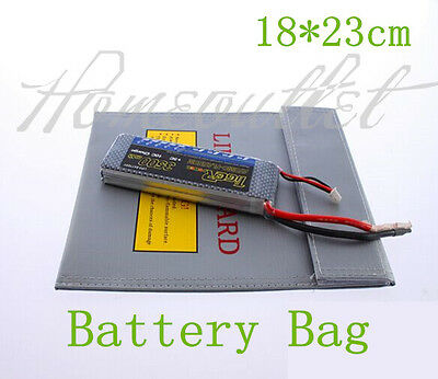 RC Lipo Battery Lipo Safe Guard Bag 18x23cm Charge Sack HT