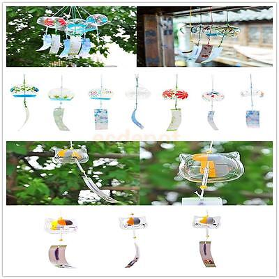 JAPANESE Traditional Culture Glass Furin Wind Bell Chime Home Yard Outdoor Decor