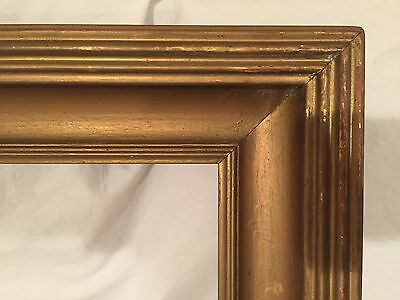 Antique 28x22 Arts & Crafts Style Large Reeded Wood Frame - Whistler Style