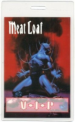 Meat Loaf authentic 1993-1994 concert tour Laminated Backstage Pass