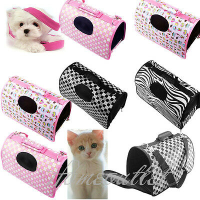 Pet Dog Cat Puppy Portable Travel Carry Carrier Tote Cage Bag Kennel Free ShipHT