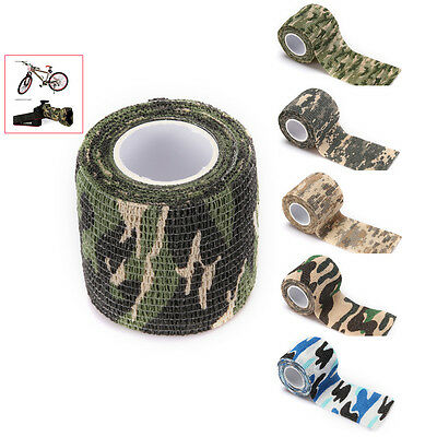 5cm x 4.5m Military Camouflage Self Sticking Rifle Gun Tool Stealth Wrap Tape