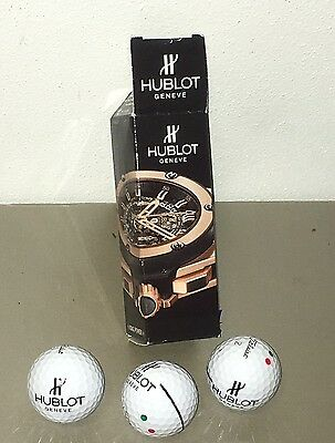 *RARE* TITLEIST PRO V1 - HUBLOT WATCH LOGO with WATCH PICTURE Box / sleeve!!