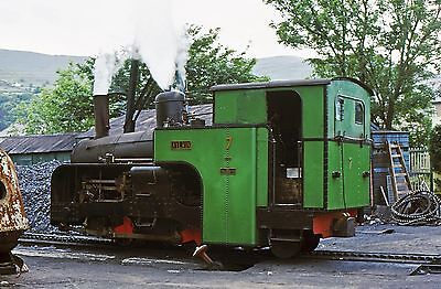 Original Colour Slide Of Snowdon Mountain Railway Loco 'aylwin'