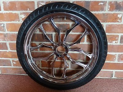 Weld recluse 19 x 3 front wheel and tyre. Harley Davidson hole pattern.