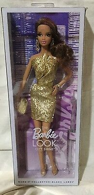 Barbie Collector - The Look City Shine Gold Dress Steffie Face
