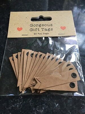 New 20 Gorgeous Gift Tags Birthday Wedding Card Making Scrap Booking Flags